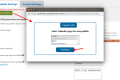 LinkedIn Auto Publish - Manage settings ‹ smap-app-select-pages