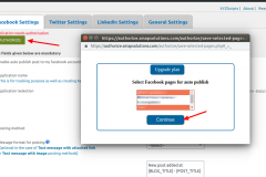 Social Media Auto Publish-Select and save pages