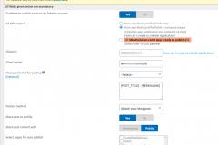 Social Media Auto Publish-LinkedIn own-app settings
