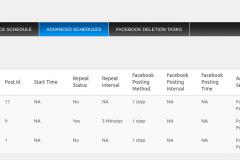 Advanced Scheduling-advanced schedules log