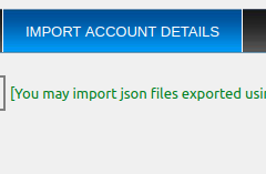 Export Import Accounts ‹ import accounts