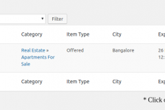Manage Classifieds Listings - User