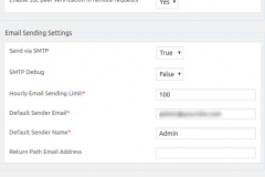 General and E-mail Settings